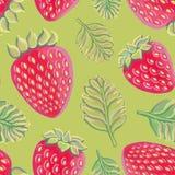 seamless jordgubbar för modell Arkivfoto