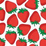 seamless jordgubbar för modell Vektortexturdesign Royaltyfri Bild