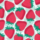 seamless jordgubbar för modell Vektortexturdesign Royaltyfri Fotografi