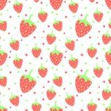 seamless jordgubbe Arkivbild