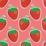 seamless jordgubbe Royaltyfria Bilder