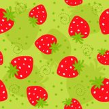 seamless jordgubbe för modell vektor illustrationer
