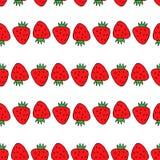 seamless jordgubbe för modell Dra i stilen av popkonst royaltyfri illustrationer