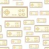 Seamless joysticks gamepads Royalty Free Stock Image