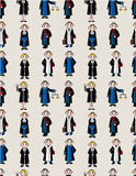Seamless Judge pattern Stock Image