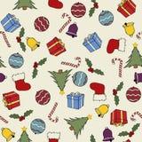 seamless jul stock illustrationer