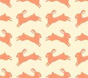 Seamless jumping rabbits pattern Royalty Free Stock Image