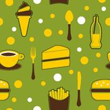 Seamless Junk Food Background Royalty Free Stock Photography