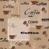 seamless kaffemodell Royaltyfri Foto