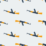 Seamless Kalashnikov ak47 pattern flat. Seamless Kalashnikov ak47 pattern texture Stock Image