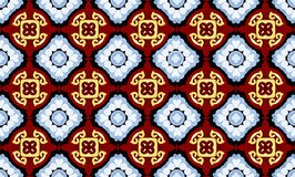Seamless  Kaleidoscope Abstract background. Six beautiful  seamless ornament. Mandala. Vintage decorative elements. Islam, Indian. Ceramic tile. Set of beautiful Stock Photography