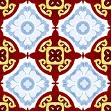 Seamless  Kaleidoscope Abstract background. Six beautiful  seamless ornament. Mandala. Vintage decorative elements. Islam, Indian. Ceramic tile. Set of beautiful Royalty Free Stock Image