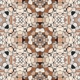 Seamless kaleidoscope mosaic in brown Royalty Free Stock Images