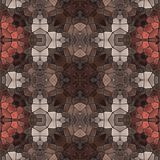 Seamless kaleidoscope mosaic in brown spectrum Royalty Free Stock Images