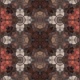 Seamless kaleidoscope mosaic in brown spectrum Royalty Free Stock Images