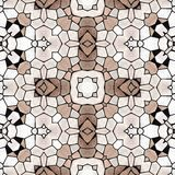 Seamless kaleidoscope mosaic pattern in brown Stock Images