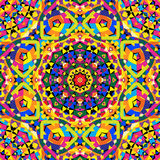 Seamless kaleidoscope pattern. Vector illustration. eps 8 Stock Photo