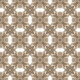Seamless kaleidoscope texture or pattern in brown 1 Stock Images