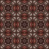 Seamless kaleidoscope texture or pattern in brown spectrum 3 Stock Image