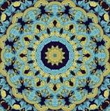 Seamless kaleidoscopic mosaic pattern. Background Stock Photo