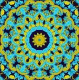 Seamless kaleidoscopic mosaic pattern. Background Royalty Free Stock Photos
