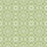 Seamless kaleidoscopic pattern in pale green Stock Photography