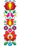 Seamless Kalocsai embroidery - Hungarian floral folk art pattern Stock Image