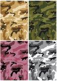 Seamless kamouflage mönstrar royaltyfri illustrationer