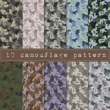 seamless kamouflagemodell Arkivfoto