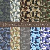 seamless kamouflagemodell Fotografering för Bildbyråer