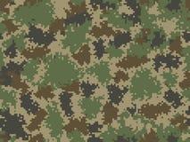 seamless kamouflagemodell Moderiktig stilPIXELcamo Arkivfoton