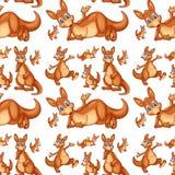 Seamless kangaroo Stock Photos