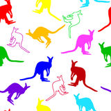 Seamless kangaroo pattern Royalty Free Stock Images