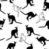 Seamless kangaroo pattern Royalty Free Stock Photo