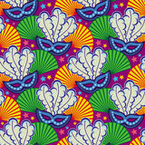 seamless karnevalmaskeringsmodell Rastergemkonst Royaltyfri Fotografi
