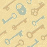 Seamless key pattern Royalty Free Stock Photo