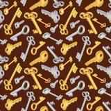 Seamless key pattern Stock Image