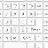 Seamless keyboard pattern Royalty Free Stock Images