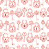 Seamless keys and locks Stock Photography