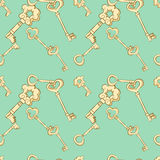 Seamless keys pattern Royalty Free Stock Images
