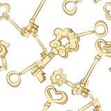 Seamless keys pattern Royalty Free Stock Photos