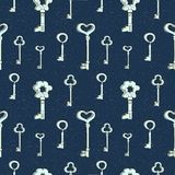 Seamless keys pattern Stock Photos