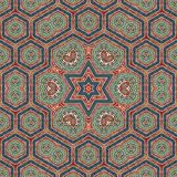 Seamless khayameya pattern design 007 Stock Image