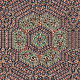 Seamless khayameya pattern design 005 Royalty Free Stock Image