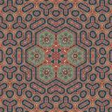 Seamless khayameya pattern design 004 Royalty Free Stock Image