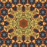 Seamless khayameya pattern design 002 Royalty Free Stock Photo