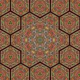 Seamless khayameya pattern design 043. Islam art arabesque tent maker - seamless khayameya pattern design Stock Photography
