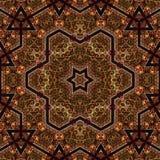 Seamless khayameya pattern design 035 Royalty Free Stock Image