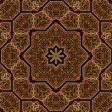 Seamless khayameya pattern design 027 Royalty Free Stock Image