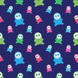 Seamless kids monsters illustration Stock Photography